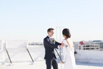 Colorful Rooftop Wedding With Geometric Modern Designs | Christian + Reinna Cruz 10