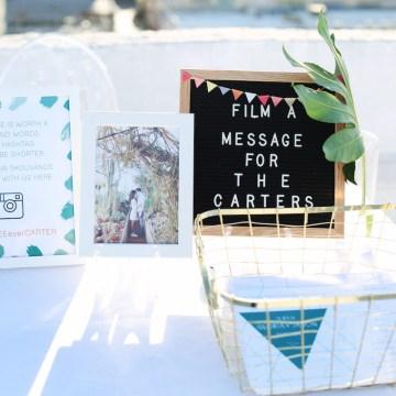 Colorful Rooftop Wedding With Geometric Modern Designs   Christian + Reinna Cruz 21