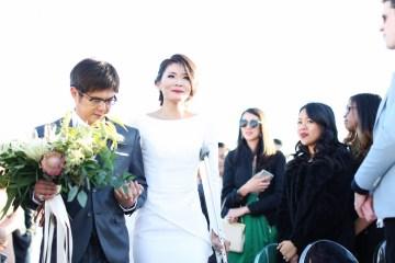 Colorful Rooftop Wedding With Geometric Modern Designs | Christian + Reinna Cruz 25