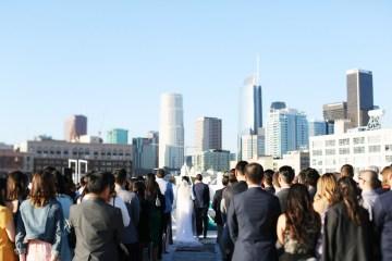 Colorful Rooftop Wedding With Geometric Modern Designs | Christian + Reinna Cruz 26