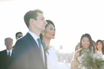 Colorful Rooftop Wedding With Geometric Modern Designs | Christian + Reinna Cruz 27