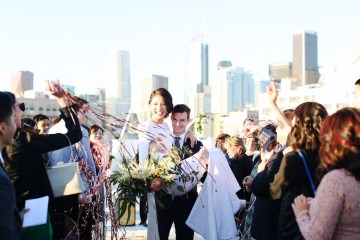 Colorful Rooftop Wedding With Geometric Modern Designs | Christian + Reinna Cruz 29