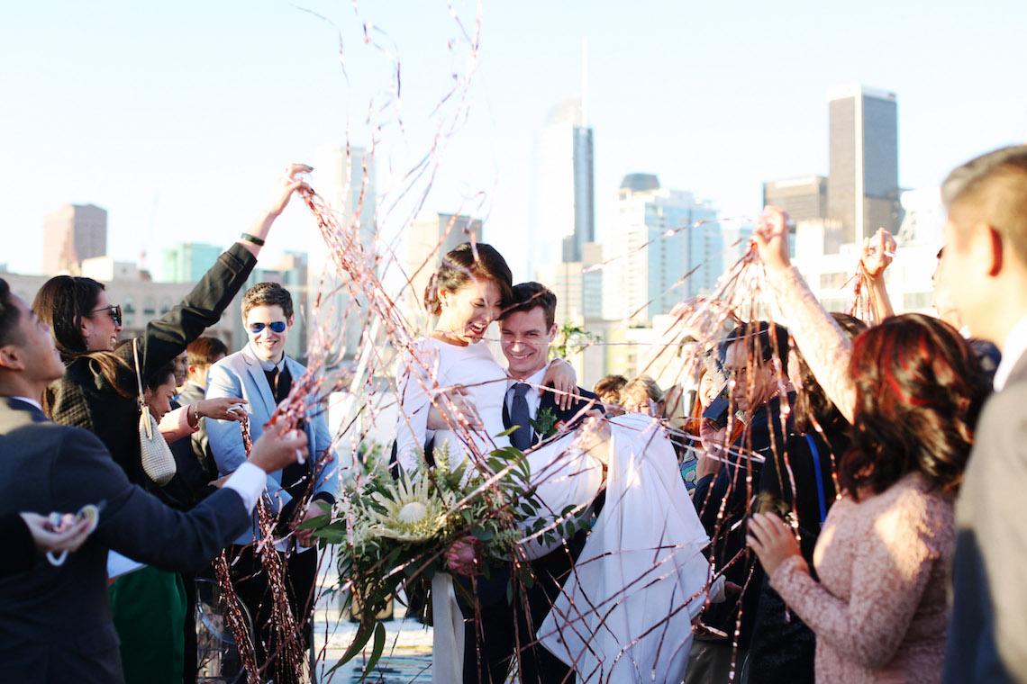 Colorful Rooftop Wedding With Geometric Modern Designs | Christian + Reinna Cruz 30