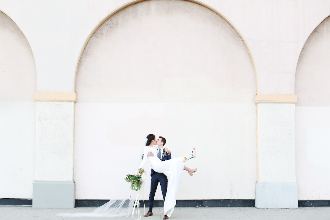 Colorful Rooftop Wedding With Geometric Modern Designs   Christian + Reinna Cruz 37