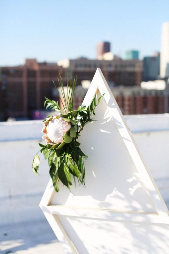 Colorful Rooftop Wedding With Geometric Modern Designs   Christian + Reinna Cruz 53