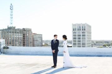 Colorful Rooftop Wedding With Geometric Modern Designs | Christian + Reinna Cruz 9