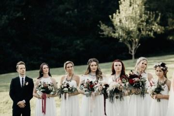 Cool Pampas Grass Wedding With Deep Berry Tones | Cedarwood Weddings 21