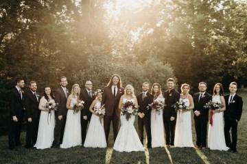 Cool Pampas Grass Wedding With Deep Berry Tones | Cedarwood Weddings 27