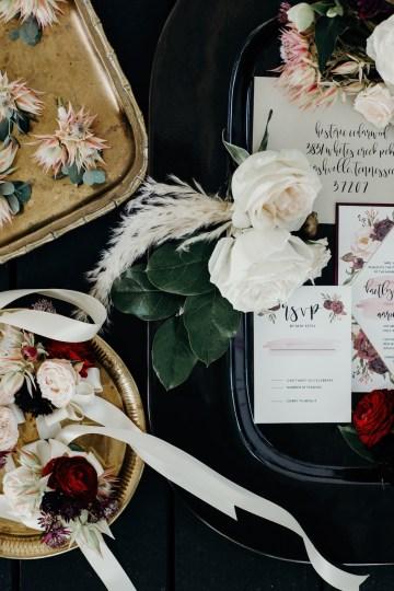 Cool Pampas Grass Wedding With Deep Berry Tones | Cedarwood Weddings 43
