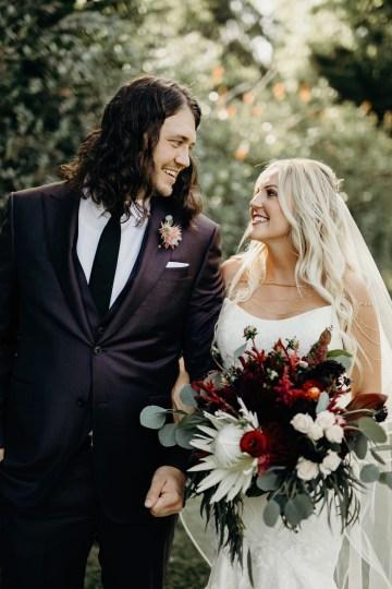 Cool Pampas Grass Wedding With Deep Berry Tones | Cedarwood Weddings 73