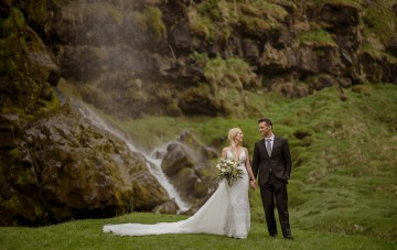 Adventurous Rainy Wedding In Iceland (With Waterfalls!)