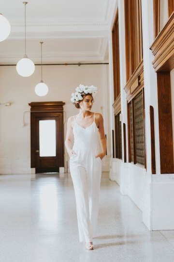 Cool Courthouse Wedding Inspiration Featuring A Bridal Jumpsuit | Rachel Birkhofer Photography 18