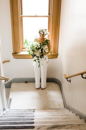Cool Courthouse Wedding Inspiration Featuring A Bridal Jumpsuit | Rachel Birkhofer Photography 25