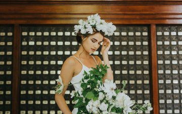 Cool Courthouse Wedding Inspiration Featuring A Bridal Jumpsuit