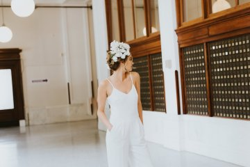 Cool Courthouse Wedding Inspiration Featuring A Bridal Jumpsuit | Rachel Birkhofer Photography 35