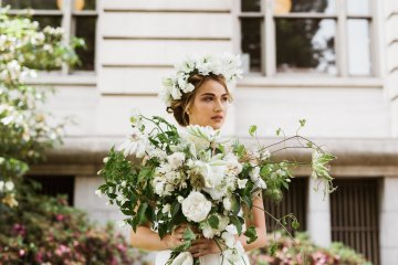 Cool Courthouse Wedding Inspiration Featuring A Bridal Jumpsuit | Rachel Birkhofer Photography 37