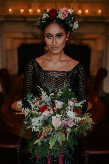 Luxurious Red & Green Wedding Inspiration Featuring A Glam Black Gown | Jamie Sia Photography 21