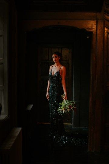 Luxurious Red & Green Wedding Inspiration Featuring A Glam Black Gown | Jamie Sia Photography 27