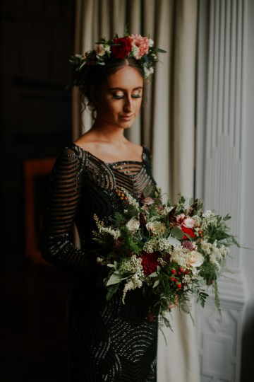 Luxurious Red & Green Wedding Inspiration Featuring A Glam Black Gown | Jamie Sia Photography 38