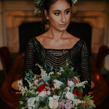 Luxurious Red & Green Wedding Inspiration Featuring A Glam Black Gown | Jamie Sia Photography 43