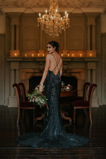 Luxurious Red & Green Wedding Inspiration Featuring A Glam Black Gown | Jamie Sia Photography 51