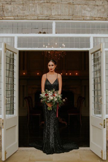 Luxurious Red & Green Wedding Inspiration Featuring A Glam Black Gown | Jamie Sia Photography 52