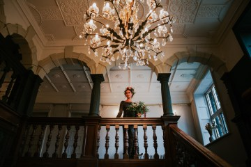 Luxurious Red & Green Wedding Inspiration Featuring A Glam Black Gown | Jamie Sia Photography 8