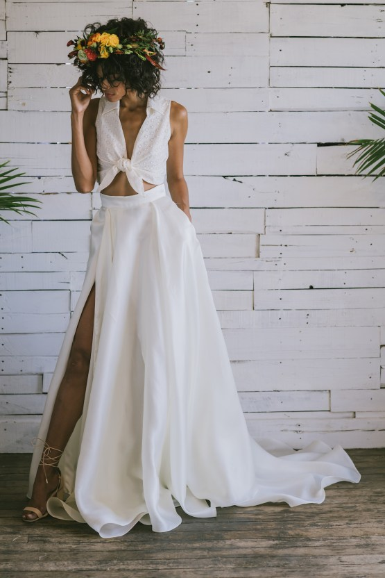 Boho Gowns & Cool Bridal Separates From The Tropical Town of Brooklyn   Loulette Bride 22