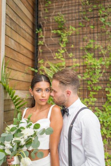 Classy Modern Rooftop Wedding Inspiration | Anna + Mateo Photography 57
