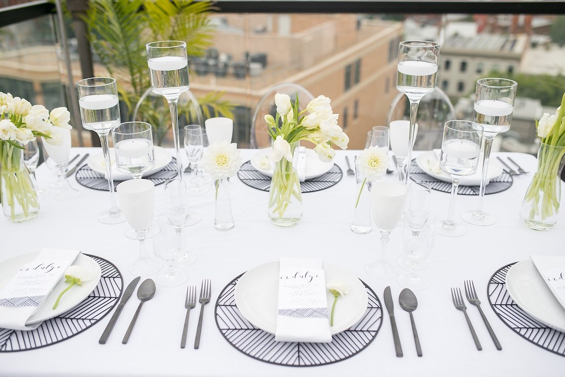 Classy Modern Rooftop Wedding Inspiration | Anna + Mateo Photography 61
