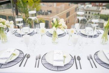 Classy Modern Rooftop Wedding Inspiration | Anna + Mateo Photography 61