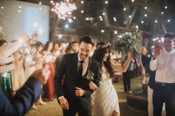 Modern & Hip Bali Wedding Featuring Sparklers & Flower Crowns | Iluminen Photography 23