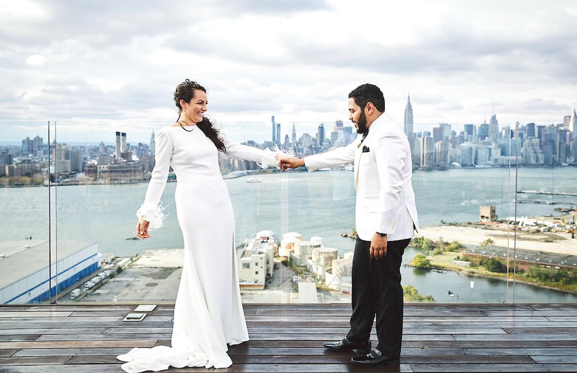 Stylish New York Wedding With Incredible City Views | Bri Johnson Photography 14