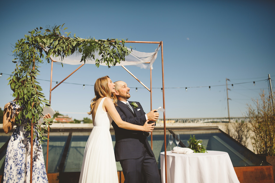 Tropical Urban Rooftop Wedding In Seattle | The Shalom Imaginative 8