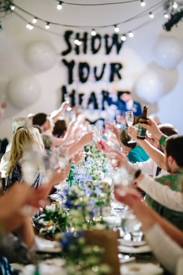 Underground Gallery Wedding In London With Cool, Flashy Signage   Studio 1208 Photography 41