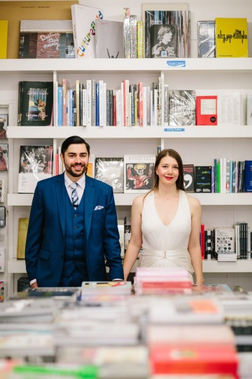 Underground Gallery Wedding In London With Cool, Flashy Signage   Studio 1208 Photography 53