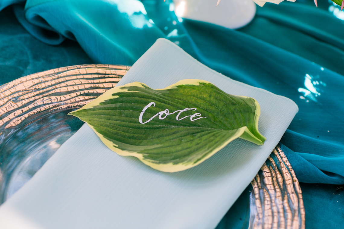 Vibrant Ocean Blue Watercolor Wedding Inspiration | Lola Event Productions | Artistrie Co. 3