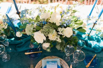 Vibrant Ocean Blue Watercolor Wedding Inspiration | Lola Event Productions | Artistrie Co. 4