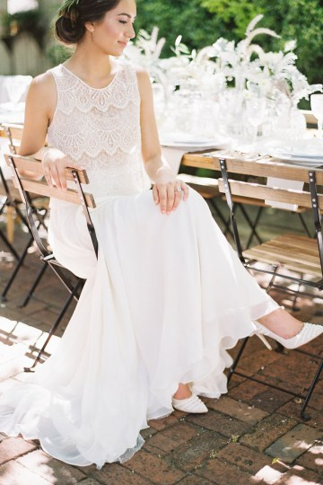 Vintage Lace; Pretty Wedding Ideas Featuring A Crepe Cake & Lamb's Ear Bouquet | Nathalie Cheng 22