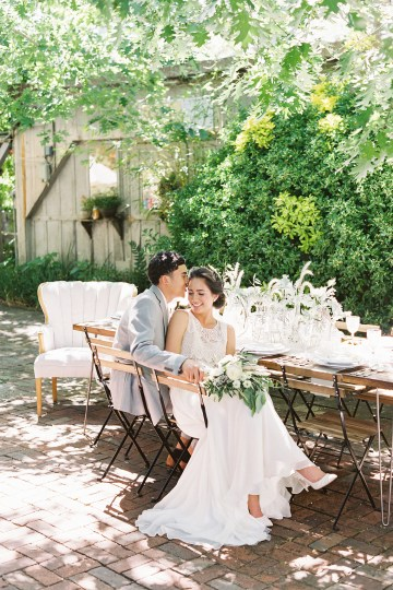 Vintage Lace; Pretty Wedding Ideas Featuring A Crepe Cake & Lamb's Ear Bouquet | Nathalie Cheng 23