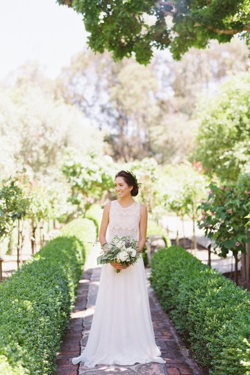 Vintage Lace; Pretty Wedding Ideas Featuring A Crepe Cake & Lamb's Ear Bouquet | Nathalie Cheng 8