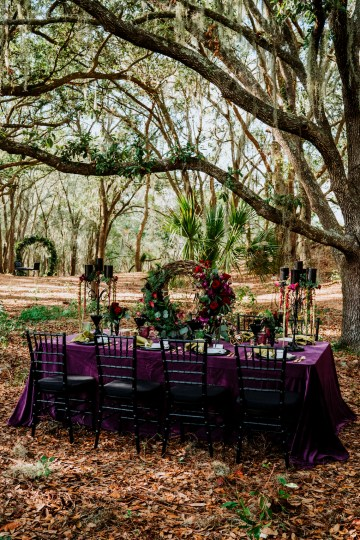 Woodsy Jewel-Toned Wedding Ideas (With A Circle Arch!) | Grind & Press Photography 17