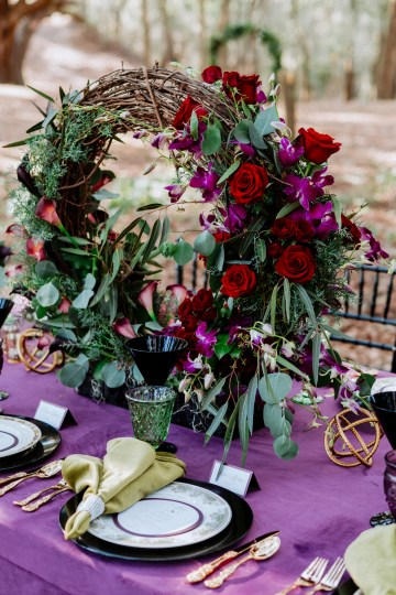 Woodsy Jewel-Toned Wedding Ideas (With A Circle Arch!) | Grind & Press Photography 24