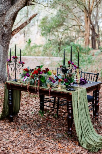 Woodsy Jewel-Toned Wedding Ideas (With A Circle Arch!) | Grind & Press Photography 27