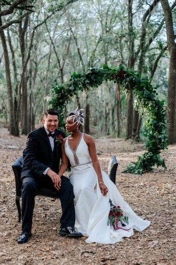 Woodsy Jewel-Toned Wedding Ideas (With A Circle Arch!) | Grind & Press Photography 46