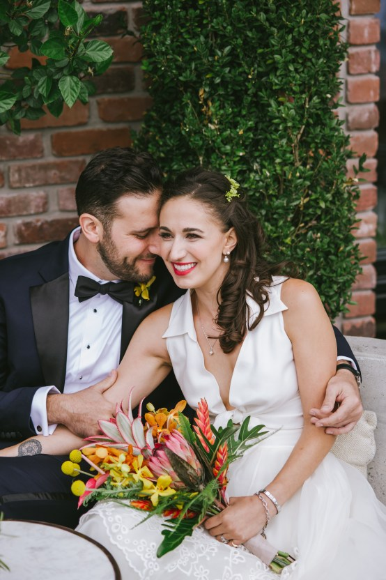 A Designer Bride's Hip Brooklyn Wedding With Tropical Vibes | KM Photo 24