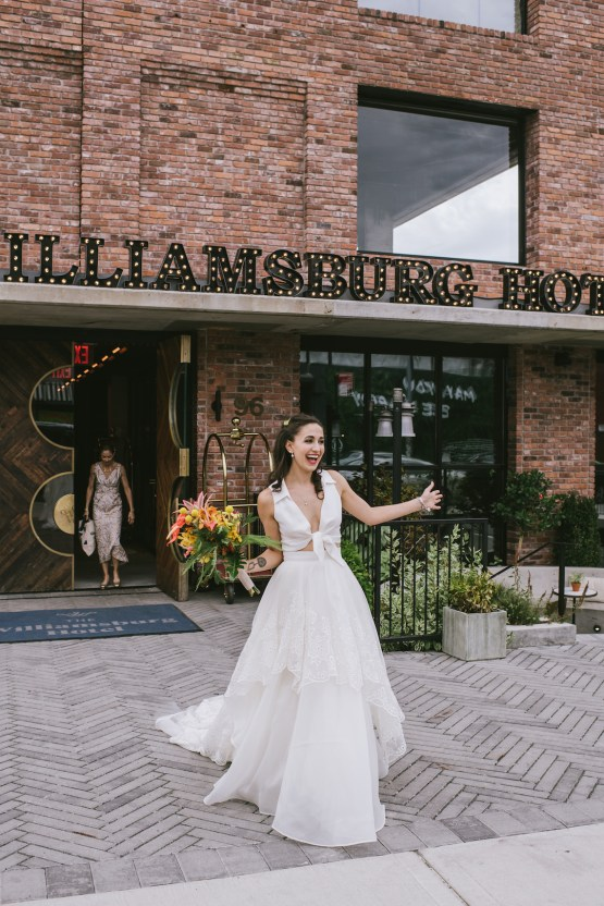 A Designer Bride's Hip Brooklyn Wedding With Tropical Vibes | KM Photo 33