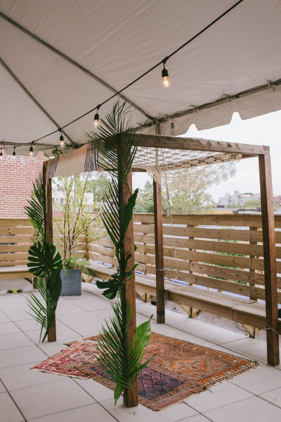 A Designer Bride's Hip Brooklyn Wedding With Tropical Vibes | KM Photo 40