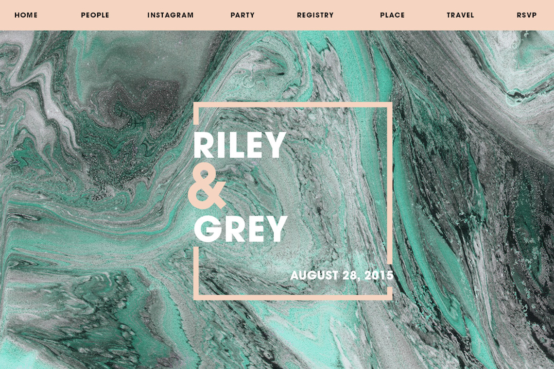 Create A Wedding Website As Unique As Your Are With Riley & Grey 10