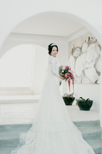Intimate & Luxurious Cliffside Santorini Wedding   Stella and Moscha   Nikos Gogas 13